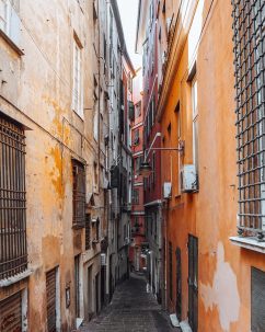 typical alley of Genoa